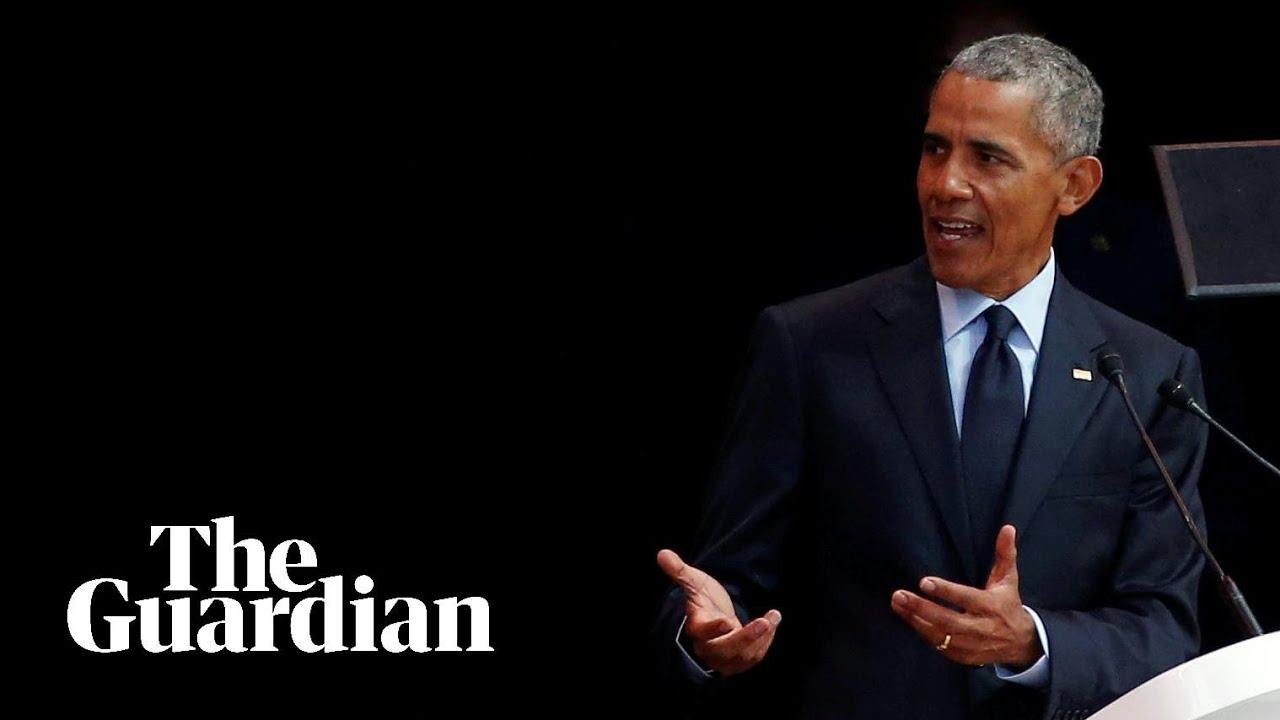 """奥巴马最新高调演讲 """"暗批"""" 特朗普图片"""